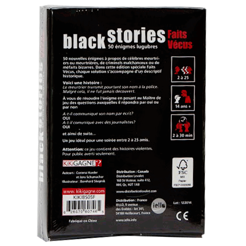 Black stories - faits vécus verso