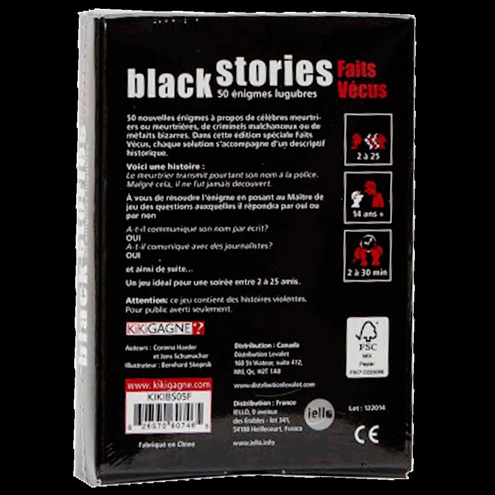 Black stories - faits vécus verso