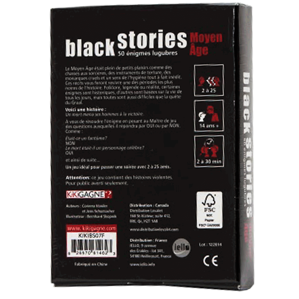 Black Stories - moyen age verso