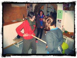baton inuit joueuses jeu cooperatif