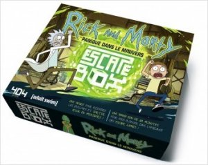 escape box rick and morty panqiue dans le minivers - jeu cooperatif