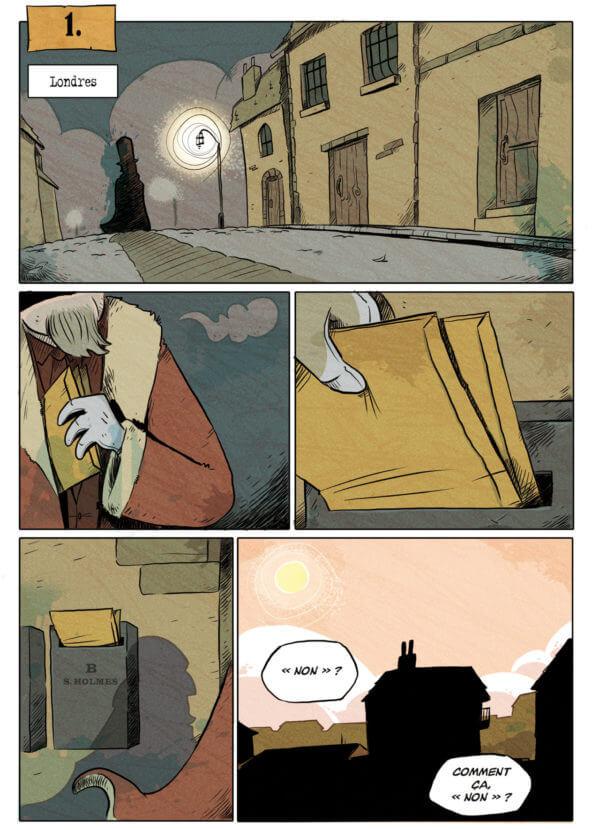 Quatre enquêtes de Sherlock Holmes - La BD dont vous êtes le Héros