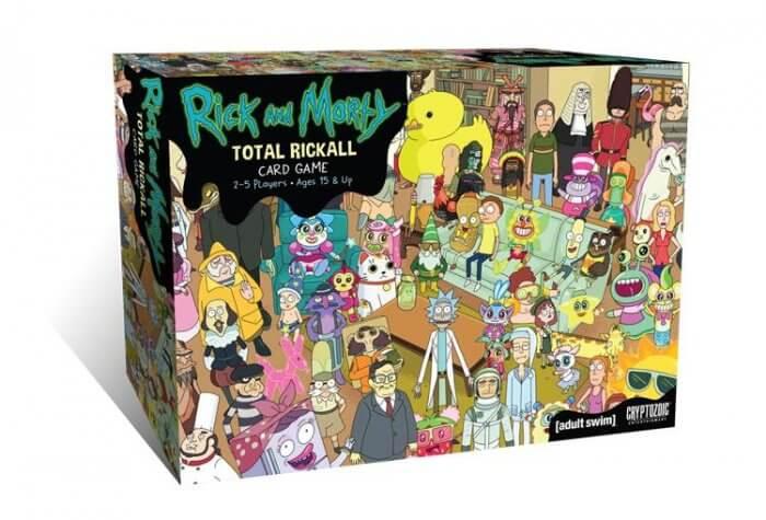rick and Morty totalrickall jeu de cartes coopératif