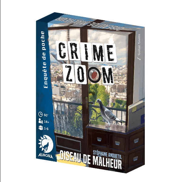 Crime Zoom Oiseau de Malheur jeu cooperatif enquete